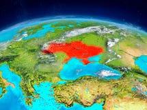 Ukraina på jord Royaltyfria Bilder