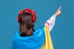 Ukraina patriotyczny pojęcie obrazy stock