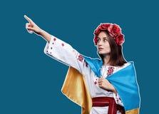Ukraina patriotyczny pojęcie obraz royalty free