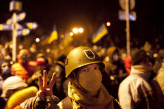 Ukraina revolution royaltyfri bild