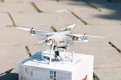 Ukraina September 19, 2015: Inbillad quadrocopter för surr med pro-3 Fotografering för Bildbyråer