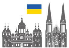 Ukraina Set ilustracji