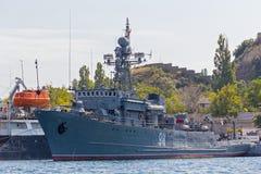 Ukraina Sevastopol - September 02, 2011: Marin- minehunters Arkivfoton