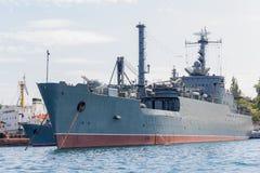 Ukraina Sevastopol - September 02, 2011: Wea för maritim transport Royaltyfria Foton