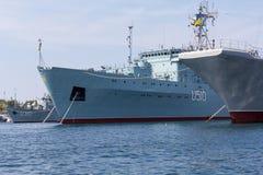 Ukraina Sevastopol, Wrzesień, - 02, 2011: Dworska Ukraińska marynarka wojenna Obraz Stock