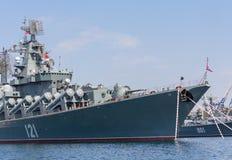 Ukraina Sevastopol, Wrzesień, - 02, 2011: Statek flagowy Ru Zdjęcia Royalty Free