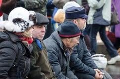 Ukraina som är euromaidan i Kiev Fotografering för Bildbyråer