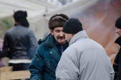 Ukraina som är euromaidan i Kiev Royaltyfri Foto