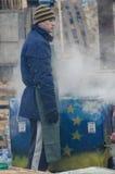 Ukraina som är euromaidan i Kiev Arkivbild