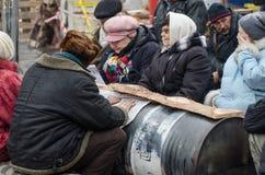 Ukraina som är euromaidan i Kiev Royaltyfri Fotografi
