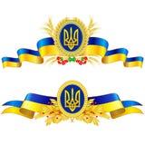 Ukraina stanu symbole Fotografia Royalty Free