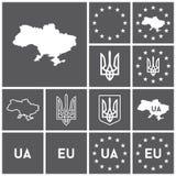 Ukraina symboler Vektor Illustrationer