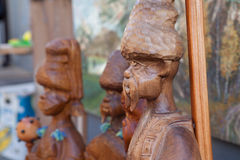 Ukraina träskulpturer, kosackar, historia, Arkivfoton
