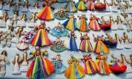 Ukraina traditionella tråddockor Arkivbild