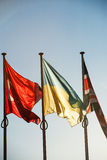 Ukraina, Turkiet och Förenade kungariket flaggor - Strasbourg Royaltyfria Foton