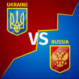 Ukraina VS Ryssland Arkivfoto