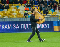 Ukraina vs Walia zdjęcia stock