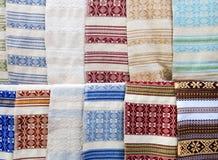 Ukrainare broderade handdukar - rushnyk arkivfoton