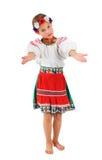 ukrainare för dräktflickanational Royaltyfri Bild