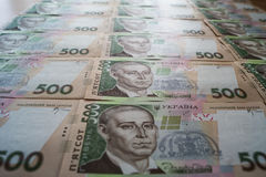 Ukrainare Hryvnia Fotografering för Bildbyråer