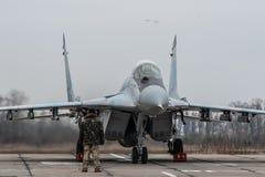 Ukrainare MiG-29 Fotografering för Bildbyråer