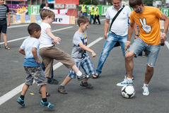 Ukrainarefans i euroet 2012 Royaltyfria Foton