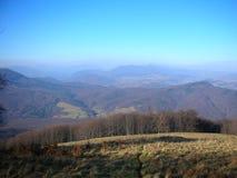 ukraine övre sikt för carpathian berg Arkivbild