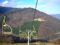 ukraine övre sikt för carpathian berg Arkivfoton