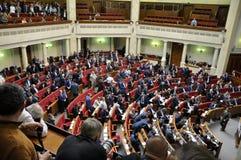 Ukraine_10的议会Verkhovna Rada会议  库存照片