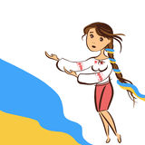 Ukraine. Ukrainian girl asking God to help Royalty Free Stock Photos