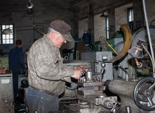Ukraine, Anthracite - May 15, 2013: Turner in the workplace. Ant Royalty Free Stock Images