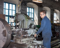 Ukraine, Anthracite - May 15, 2013: Turner in the workplace. Ant Stock Image