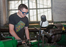 Ukraine, Anthracite - May 15, 2013: Turner in the workplace Royalty Free Stock Photography