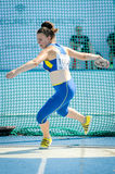 Ukraine athlete royalty free stock photos
