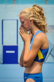 Ukraine athlete stock photo