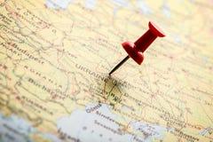 Ukraine auf Karte Lizenzfreies Stockfoto