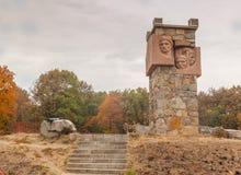 UKRAINE, BELAYA TSERKOV: The monument on Mount Paly Royalty Free Stock Photography
