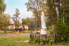 UKRAINE, BELAYA TSERKOV :Sculpture of the Virgin Mary on the bac Stock Images