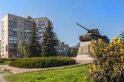 UKRAINE, BELAYA TSERKOV:  Soviet tank from WWII period Royalty Free Stock Photography