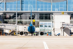 Ukraine, Borispol - 22. Mai: Boeing 737 am Anschluss an internationalem Flughafen Borispol am 22. Mai 2015 in Borispol, Ukraine Lizenzfreie Stockfotos
