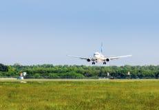 Ukraine, Borispol - MAY 22 : Boeing is landing at Borispol International Airport on May 22, 2015 in Borispol, Ukraine Stock Photography