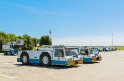 Ukraine, Borispol - MAY 22 : Equipment for maintenance of aircraft at the international airport Borispol on May 22, 2015 Stock Images