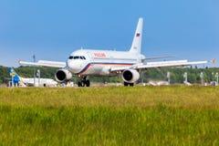 Ukraine, Borispol - MAY 22 : Russian airlines plane landed at the international airport Borispol on May 22, 2015 in Borispol. Royalty Free Stock Photos