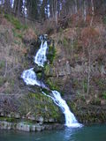 Ukraine. Carpathian mountains. Waterfall. Ukraine. Carpathian mountains. Near the town Mezhyhiria Zakarpattia region. The Carpathian Mountains or Carpathians Stock Image