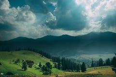 ukraine carpathians Dzembronya Royaltyfria Bilder