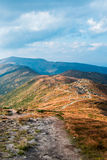Ukraine, Carpathians mauntains, Сhernogirskiy array Stock Photos