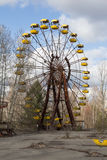 UKRAINE. Chernobyl Exclusion Zone. - 2016.03.19. Abandoned amusement park in the Pripyat city Royalty Free Stock Photos