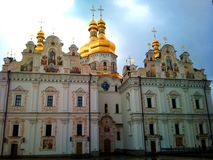 Ukraine  Church.  Kiev-Pechersk Lavra. Royalty Free Stock Image