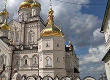 Ukraine church in Pochaevska Lavra stock image