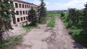 Ukraine, the city of Peschanka, 09 18 16. ATO, war, destroyed homes stock video